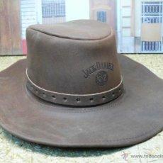 Artesanía: SOMBRERO VAQUERO JACK DANIELS (EN PIEL). Lote 49664821