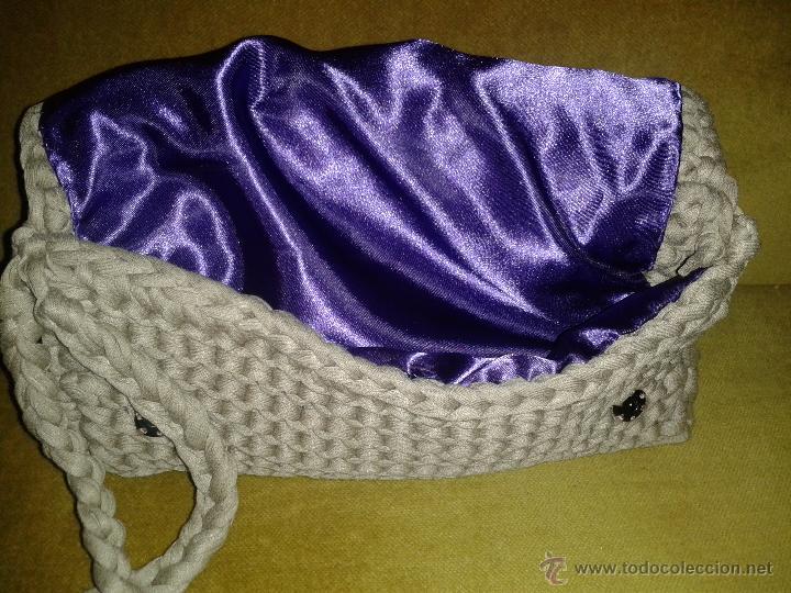 Artesanía: Bolso hecho a mano de cuerda elástica - Foto 3 - 53566941
