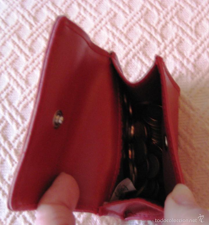 Artesanía: monedero señora piel- rojo - Foto 2 - 55101945