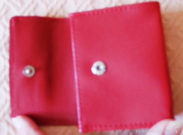 Artesanía: monedero señora piel- rojo - Foto 3 - 55101945