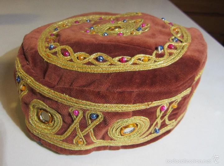 SOMBRERO GORRO TRADICIONAL TURCO EN TERCIOPELO TURKISH HAT (Artesanía - Ropa y complementos)