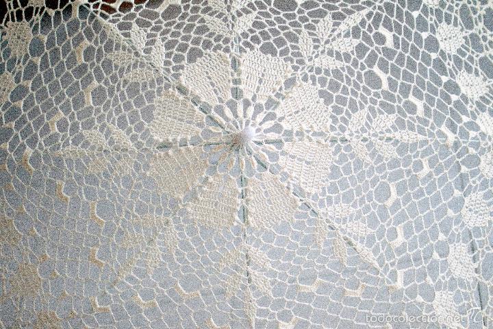 Artesanía: Parasol - sombrilla hecho a mano . Tejida A Ganchillo - Foto 2 - 57103839