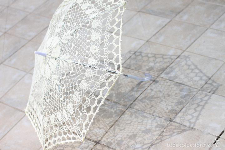Artesanía: Parasol - sombrilla hecho a mano . Tejida A Ganchillo - Foto 3 - 57103839
