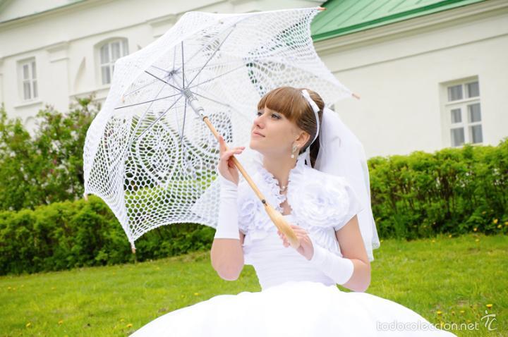 Artesanía: Parasol - sombrilla hecho a mano . Tejida A Ganchillo - Foto 7 - 57103839