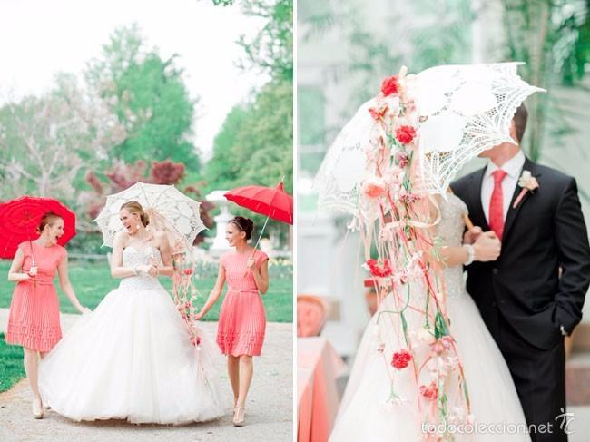 Artesanía: Parasol - sombrilla hecho a mano . Tejida A Ganchillo - Foto 9 - 57103839
