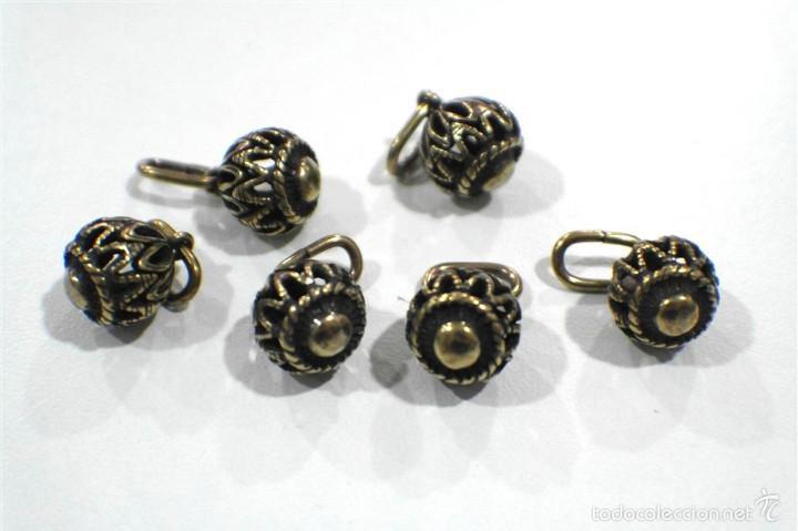 Artesanía: Botones de manzaneta, de latón, para indumentaria tradicional. - Foto 2 - 148256937