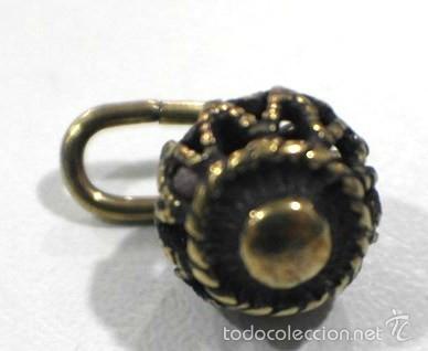 Artesanía: Botones de manzaneta, de latón, para indumentaria tradicional. - Foto 3 - 148256937