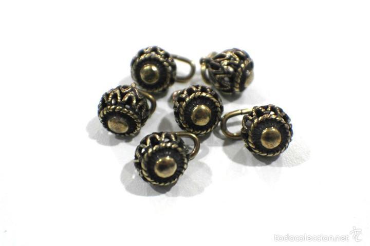 Artesanía: Botones de manzaneta, de latón, para indumentaria tradicional. - Foto 4 - 148256937