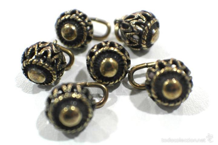 Artesanía: Botones de manzaneta, de latón, para indumentaria tradicional. - Foto 5 - 148256937