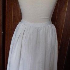Artesanía: ENAGUAS CON TIRA BORDADA.. Lote 63683315