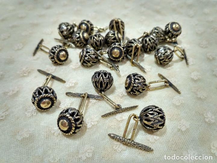 Artesanía: Botones de manzaneta, de latón, para indumentaria tradicional. - Foto 6 - 148256937