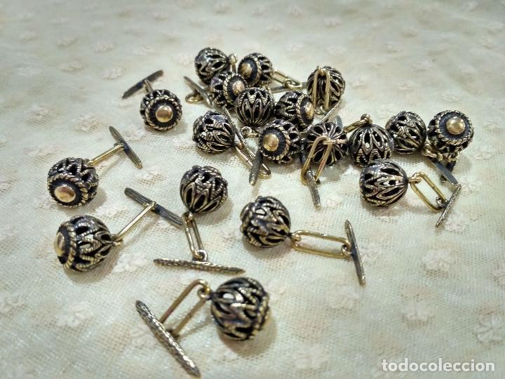 Artesanía: Botones de manzaneta, de latón, para indumentaria tradicional. - Foto 7 - 148256937