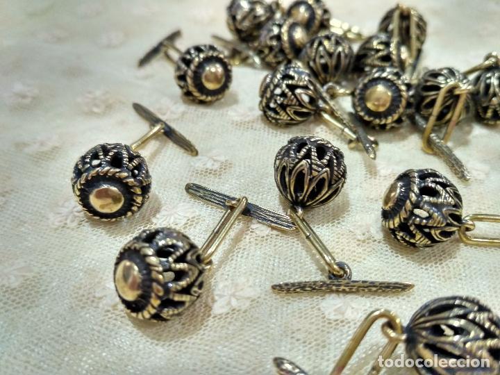 Artesanía: Botones de manzaneta, de latón, para indumentaria tradicional. - Foto 8 - 148256937