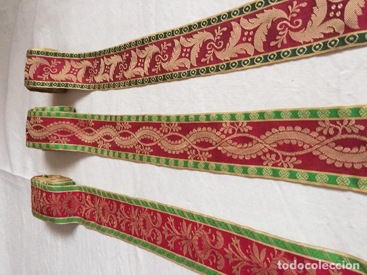 Artesanía: Cinta de seda brocada. Colonia para indumentaria tradicional. - Foto 4 - 102511471