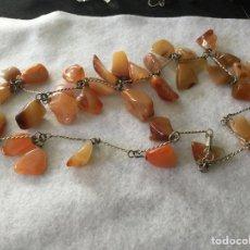 Kunsthandwerk - Collar de Ágata y metal plateado - 114914867