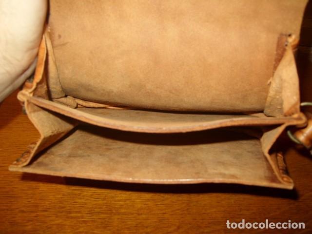 Artesanía: ESTUPENDO BOLSO DE PIEL O CUERO CON DIBUJOS AL FUEGO. - Foto 5 - 131123076