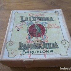 Artesanía: CAJA OVILLOS LA COTORRA, RAMÓN JULIÁ, BARCELONA.. Lote 131780946