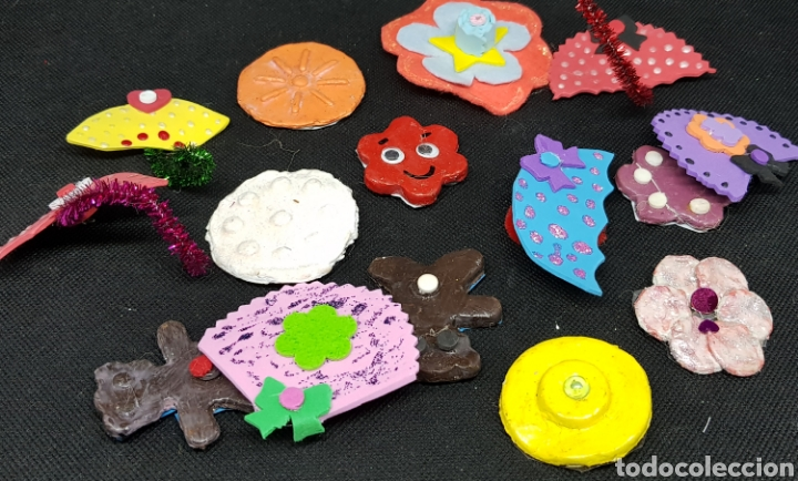 Artesanía: Lote de 75 broches artesanales- car120 - Foto 3 - 137820133