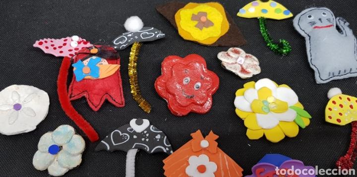 Artesanía: Lote de 75 broches artesanales- car120 - Foto 4 - 137820133