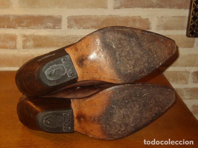 Artesanía: BOTAS TEJANAS O CAMPERAS SENDRA DE CUERO Y PIEL DE SERPIENTE,PITON AMARILLA ORIGINAL.Nº41. - Foto 11 - 141662378