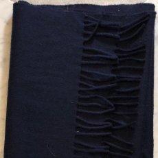 Artesanía: BUFANDAS-SALLARES DEU 1890-PURA LANA VIRGEN-AZUL(21€). Lote 147624478