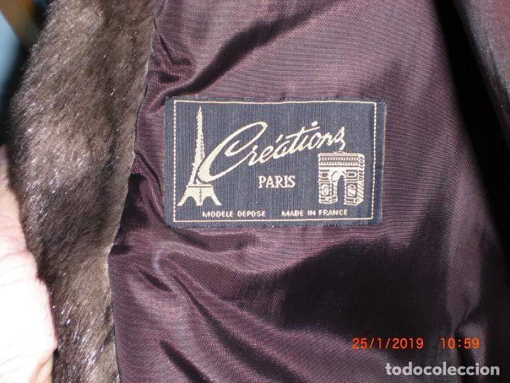 Artesanía: ABRIGO DE VISÓN ECOLÓGICO CREATIONS PARÍS COLOR MARRÓN. TALLA 46/48 COMO NUEVO - Foto 10 - 148449818