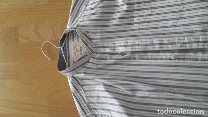 Artesanía: CAMISA A RALLAS CUELLO TIPO MAO, TALLA S, NUEVA A ESTRENAR - Foto 2 - 150026838