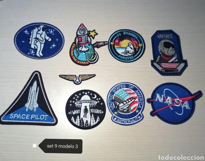 PARCHES ESPACIO NASA LOTE DE 9 TERMOADHESIVOS 50 ANIVERSARIO APOLO 11 (Artesanía - Ropa y complementos)