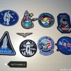 Artesanía: PARCHES ESPACIO NASA LOTE DE 9 TERMOADHESIVOS 50 ANIVERSARIO APOLO 11. Lote 191083527