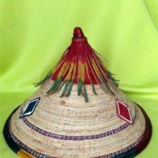Artesanía: SOMBRERO AFRICANO - PEUHL - FULANI - FULA - DE SENEGAL. Lote 158181990