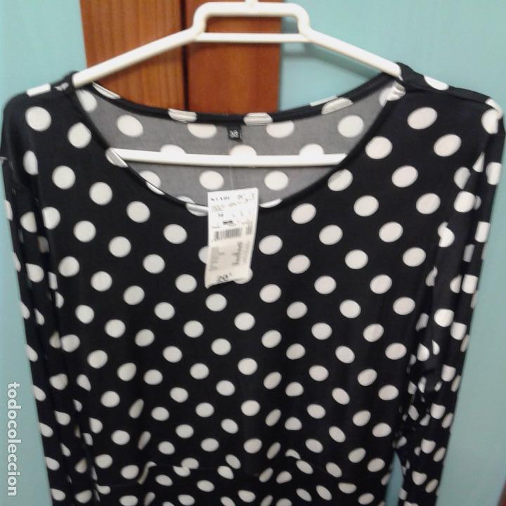 Artesanía: Vestido mujer lunares negro de punto talla 38, sin estrenar, tienda Kiabi - Foto 2 - 160956762