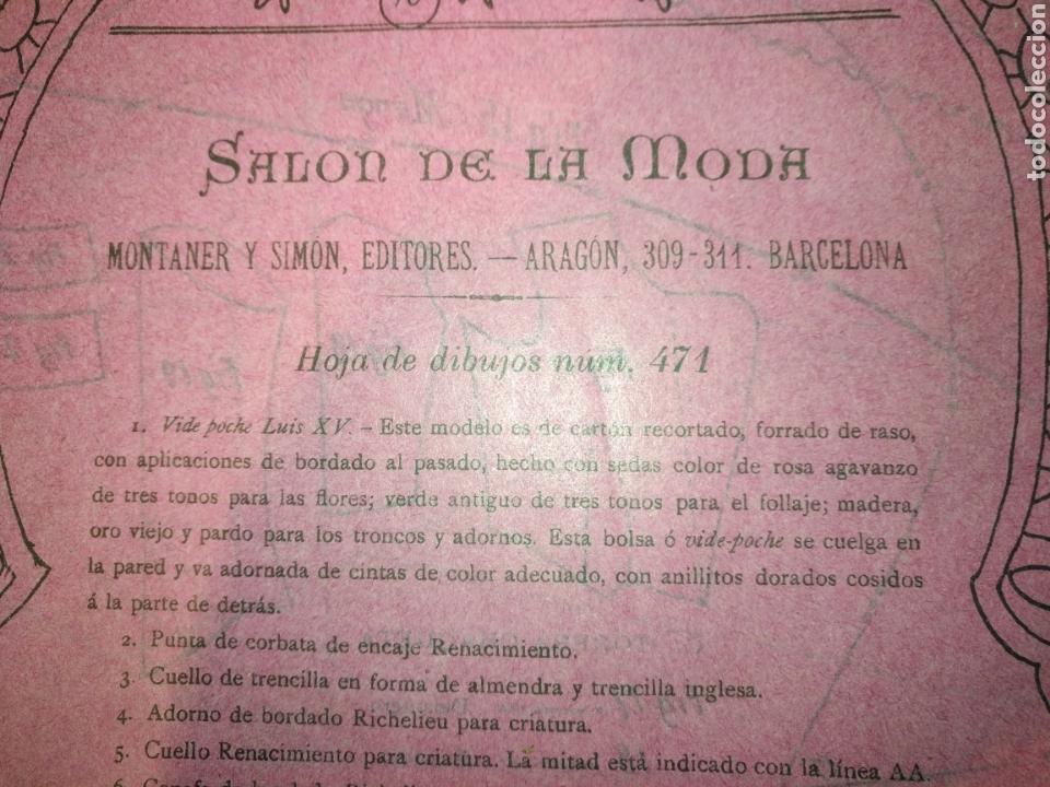 Artesanía: REVISTA Salon de la moda año 1902 170 hojas modelo de labores .Montaner y Simon editores Barcelona, - Foto 6 - 162466346
