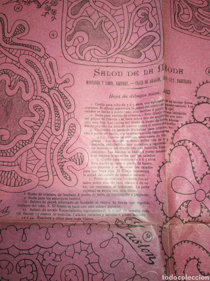 Artesanía: REVISTA Salon de la moda año 1902 170 hojas modelo de labores .Montaner y Simon editores Barcelona, - Foto 5 - 162466346