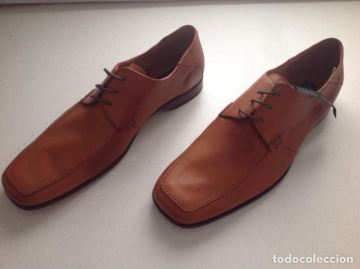 Serrano N Para Zapatos 45 Marrón Caballero Sergio Piel De 13TFclKJ