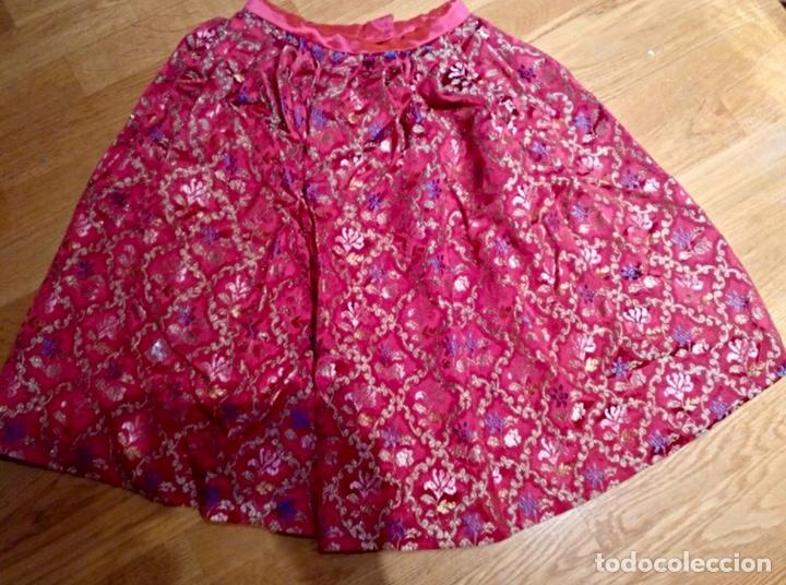 Artesanía: Indumentaria valenciana fallera. Falda corpiño y camisa. Niña. Vestido fallera - Foto 2 - 114842947