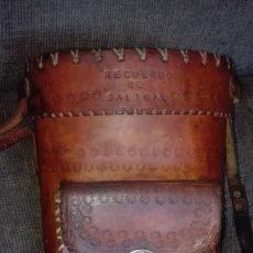 Artesanía: MOCHILA DE CUERO ARTESANAL.SALINAS(PERU). Lote 168948184