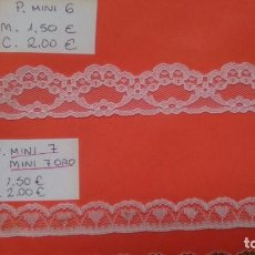 Artesanía: PUNTILLAS DE VARIAS CLASES. Lote 169989472