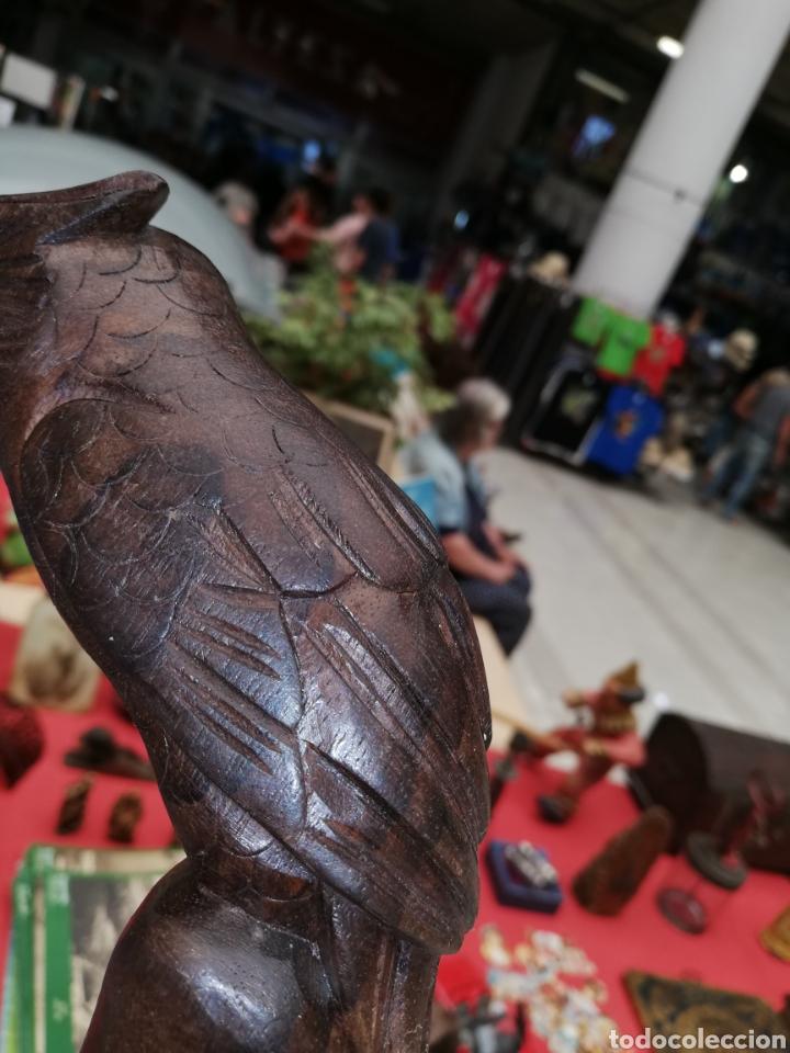 Artesanía: Bastón realizado por encargo con cabeza de búho.. Tallado a mano.. - Foto 5 - 194127820