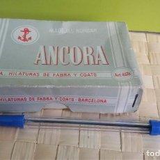 Artesanía: CAJA DE MADEJAS PARA BORDAR ANCORA, HILATURAS DE FABRA Y COATS BARCELONA. Lote 217750035