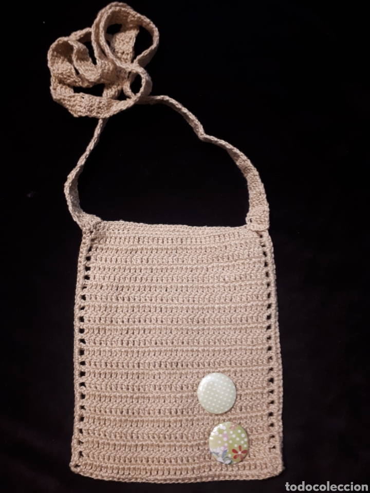 Artesanía: Bolso pequeño porta móvil ganchillo artesanal. Varios modelos a elegir. - Foto 6 - 235336580