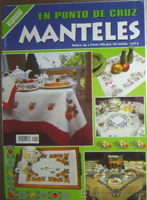 REVISTA MANTELES EN PUNTO DE CRUZ (Coleccionismos - Artesanía)