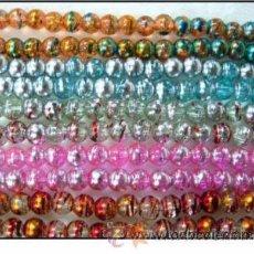 Artesanía: 50 PERLAS DE CRISTAL DE MURANO- 8MM.. Lote 26966058