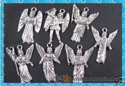 LOTE DE 5 COLGANTES DE LOS ARCANGELES PLATA (Artesanía - otros articulos hechos a mano)