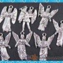 Artesanía: LOTE DE 5 COLGANTES DE LOS ARCANGELES PLATA. Lote 34145665