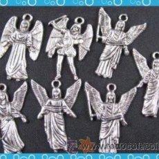 Artesanía: LOTE DE 5 COLGANTES DE LOS ARCANGELES PLATA. Lote 194528215