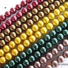 Artesanía: LOTE DE 50 PERLAS DE CRISTAL 8MM.- . Lote 43217954