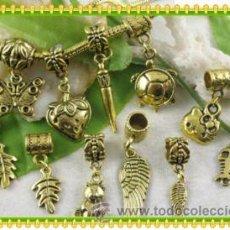 Artesanía: LOTE DE 10 COLGANTES PARA PULSERA EUROPEA, PANDORA, CHAMILIA, ETC.... Lote 27137378