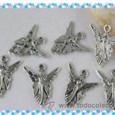 Artesanía: LOTE DE 3 COLGANTES DE ANGELES DE PLATA. Lote 27243510