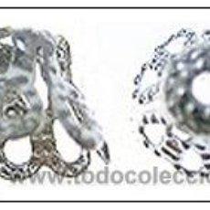 Artesanía: LOTE DE 30 CUBREPERLAS PLATA. HAZ TUS JOYAS. Lote 27245170