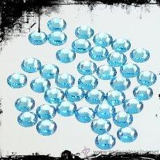 Artesanía: LOTE DE 100 HOTFIX DE SWAROVSKI 3MM COLOR AQUAMARINE. Lote 32642769
